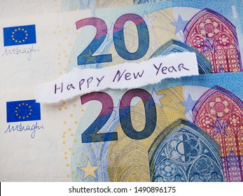 2020 Happy New Year Postcard Background Concept Idea New
