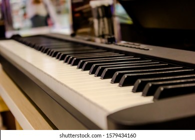 2020 new electric piano and close-up black and white piano keys is a new technology that is very modern. Suitable as a gift in every festival Such as Christmas, New Year and many more.