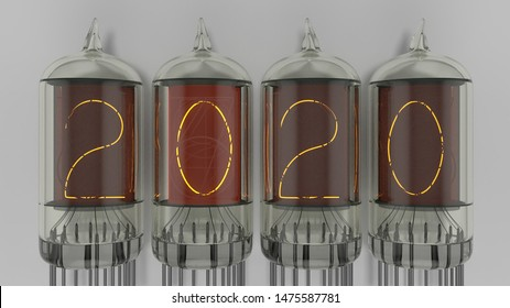 2020 in nixie tubes new years next year