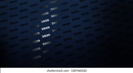 A 2020 pattern of spot uv varnish print on red note paper background.