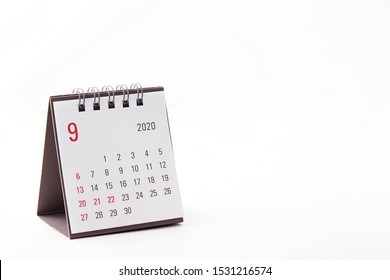 2020 September calendar on white background