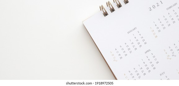 2021 calendar page on white background business planning appointment meeting concept
