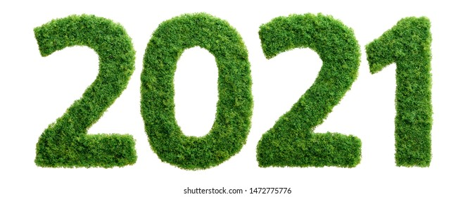 2021 is a good year for growth in environmental business. Grass growing in the shape of year 2021.