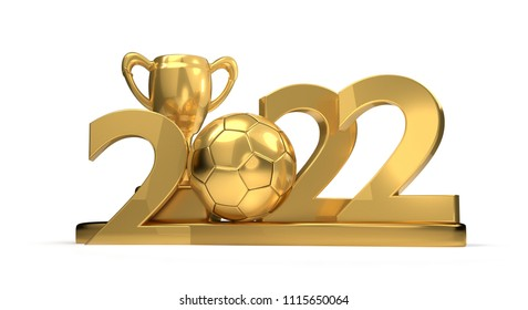 2022 golden symbol trophy soccer ball