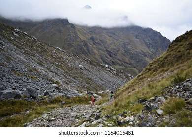 20-April-2018, Salkantay Mountain, Peru, South America. Salkantay Trek in Peru, the road to Machu Picchu, is one of the most famous treks in Cusco.