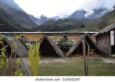 20-April-2018, Salkantay Mountain, Peru, South America. Salkantay Trek lodges.