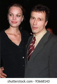 "20NOV97:  Actor MICHAEL WINCOTT & wife VERA at premiere of his new movie, ""Alien Resurrection,"" in Los Angeles."