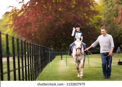 20th - April - 2016 - Staffordshire, A little boy with ADHD, Autism, Aspergers Syndrome taking a horse ride with an instructor