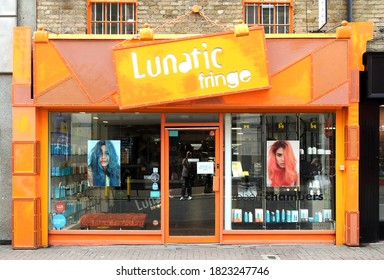 20th August 2020 Dublin, Ireland.  Lunatic Fringe hairdressers on Liffey Street, Dublin city centre.