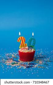 20th Birthday cupcake portrait