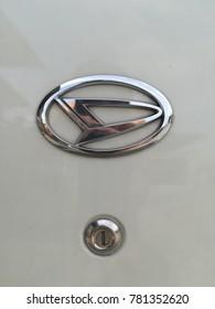 20th Dec 2017, Kuching Sarawak, D logo form Daihatsu Avy. Daihatsu Avy is among the popular compact car in asia.