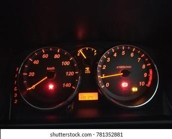 20th Dec 2017, Kuching Sarawak,  Car meter form Daihatsu Avy. Daihatsu Avy is among the popular compact car in asia.