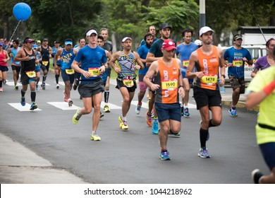 Lima,Perú,May 21, 2017:The Marathon Lima42k, is the First Official Marathon of Peru, endorsed and certified by the International Athletics Federation (IAAF) and the International Association of Marath