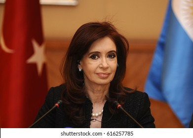 21 January 2011. Istanbul, Turkey. Cristina Fernández de Kirchner, is a President of Argentina.
