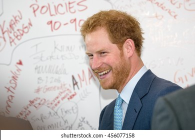 """21 July 2016, Durban, South Africa: ??Prince Harry by the ""Pro Test wall"" at the International AIDS Conference 2016."