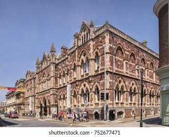 21 June 2017: Exeter, Devon, England, UK - Albert Memorial Museum and Art Gallery, Queen Street, Exeter.