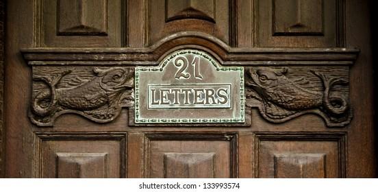 21 Letter Door