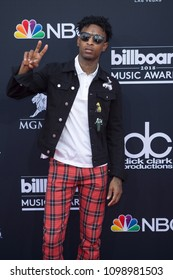 21 Savage attends the Red Carpet  at the 2018 Billboards Music Awards at the MGM Grand Arena in Las Vegas, Nevada USA on May 20th 2018