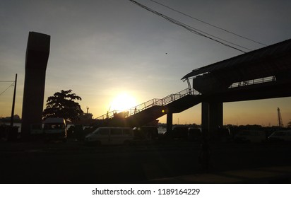 21 September 2018, Lagos Nigeria: Sunset in Marina, Lagos Nigeria
