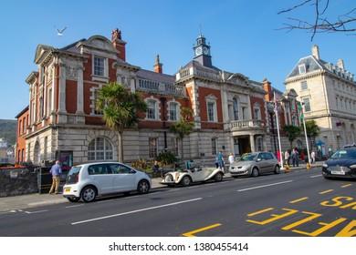 21/04/2019 Llandudno,Wales,UK. The beautiful city hall building located at Llandudno, the city of North Wales.