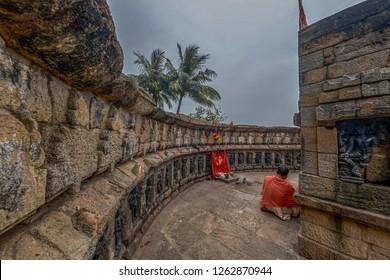 21-Jul-2007-Chausathi Jogini Mandir (64 Joginis Temple) situated in Hirapur,[1] 20 km outside Bhubaneswar,Odisha India.asia