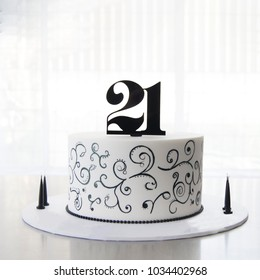 21st Birthday Cake Images Stock Photos Vectors