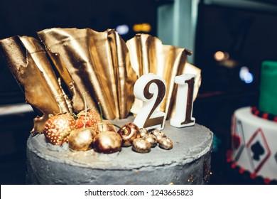 21st Birthday Cake Images Stock Photos Vectors