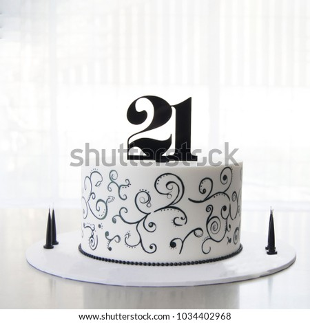21st Birthday Cake Stock Photo Edit Now 1034402968