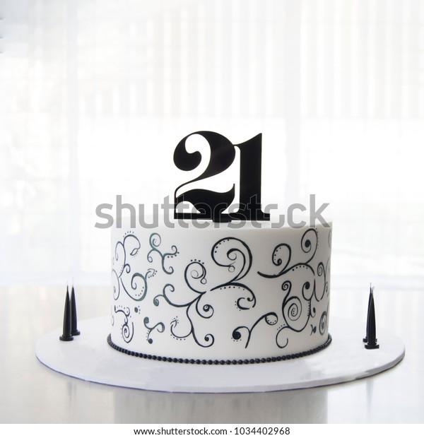 Miraculous 21St Birthday Cake Stock Photo Edit Now 1034402968 Personalised Birthday Cards Arneslily Jamesorg