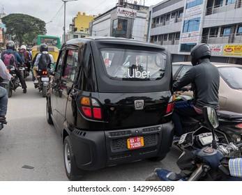 21st June 2019, Uber's New category vehicle 'quadricycle' in partnership with Bajaj Auto, Bangalore, India