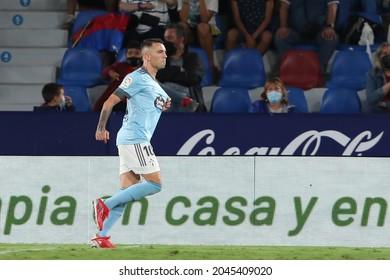 21th September 2021; Estadio Ciutat de Valencia, Valencia, Spain; La Liga football, Levante UD versus Celta de Vigo; Iago Aspas of RC Celta