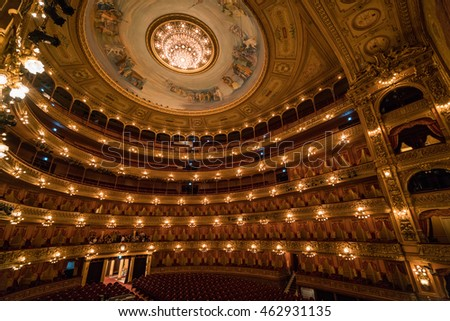 22 APR 2016 : Teatro Colon or Columbus Theatre, main Theatre and main travel attraction in Buenos Aries - Argentina