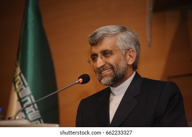 22 January 2011. Istanbul, Turkey. Saeed Jalili is an Iranian conservative politician and diplomat who was secretary of the Supreme National Security Council from 2007 to 2013.