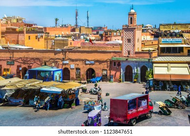 22 Jun 2016 - Marrakesh, Morocco. Jamaa el Fna market square, Marrakesh, Morocco, north Africa. Jemaa el-Fnaa, Djema el-Fna or Djemaa el-Fnaa is a famous square and market place in Marrakesh's medina