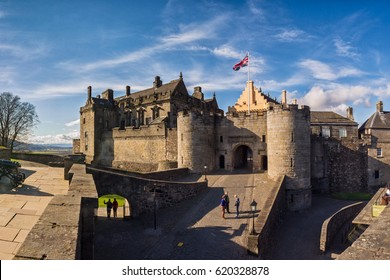 22. MARCH.2012, STIRLING - Panoramic view of the iconic Stirling Castle. Stirlingshire, Scotland, UK