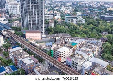 22 November, 2017: City buildings at Bangkok Thailand