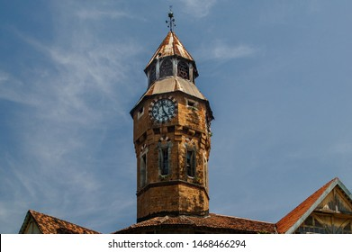 22 oct 2004 Clock tower on Gothic architecture Crawford Market now Mahatma Jyotiba Phule Mandai mumbai maharashtra India
