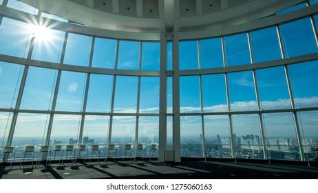 22 September 2018 ; Tokyo JAPAN ; Observation deck tokyo city view in roppongi hills