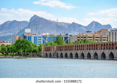 "22/05/2019 Isfahan, Iran, Siosepol the bridge in Isfahan of double-deck 33 arches, also known as the Allah Verdi Khan Bridge or ""Bridge of 33 Arches"""