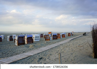 22/05/2020 SPIEKEROOG locked beach chairs at the North Sea island of Spiekeroog after a two-month corona break with travel ban. There are still few people on the beach.
