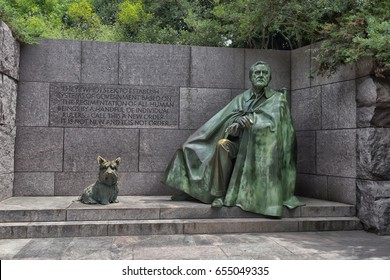 22,06,2016, WASHINGTON DC, USA, The Franklin Delano Roosevelt Memorial is a presidential memorial in Washington D.C. dedicated to the memory of Franklin Delano Roosevelt