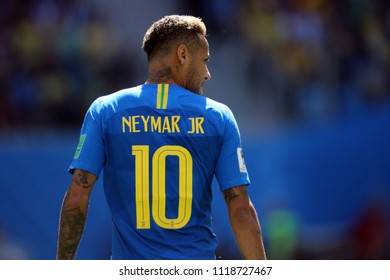 22.06.2018. Saint Petersburg, Russian: NEYMAR  in action during the Fifa World Cup Russia 2018, Group E, football match between BRAZIL V COSTARICA  in  Saint Petersburg Stadium.