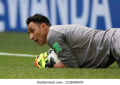 22.06.2018. Saint Petersburg, Russian:KEYLOR NAVAS  in action during the Fifa World Cup Russia 2018, Group E, football match between BRAZIL V COSTARICA  in Saint Petersburg Stadium.