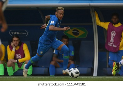 22.06.2018. Saint Petersburg, Russian:NEYMAR  in action during the Fifa World Cup Russia 2018, Group E, football match between BRAZIL V COSTARICA  in Saint Petersburg Stadium.