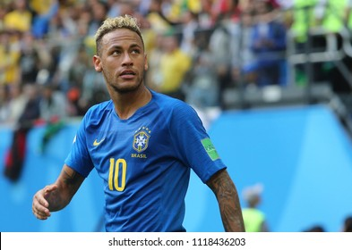 22.06.2018. Saint Petersburg, Russian:NEYMAR SCORE THE GOL AND CELEBRATE  in the Fifa World Cup Russia 2018, Group E, football match between BRAZIL V COSTARICA  in  Saint Petersburg Stadium.