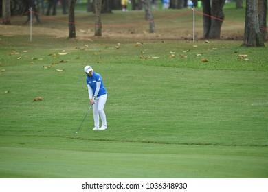 22-25 FEBRUARY 2018, Siam Country Club, Pattaya, Old Course, Thailand:Eun-Hee JI of korea in action during Honda LPGA