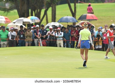 22-25 FEBRUARY 2018, Siam Country Club, Pattaya, Old Course, Thailand:Jessica KORDA of USA in action during Honda LPGA