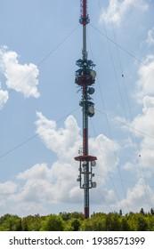 The 227 meter high transmitter Kreuzberg is a transmitter on the 927.8 meter high Kreuzberg, in the Bavarian district of Rhön-Grabfeld in the German low mountain range Rhön