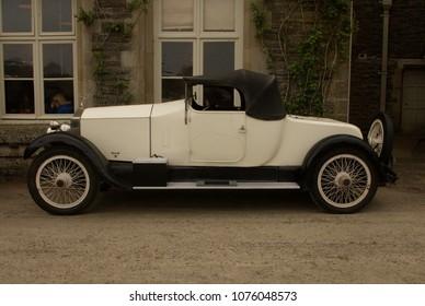 22nd April 2018- A beautiful 1920's Rolls-Royce  Coupé at a classic car show in Dinefwr Park, Llandeilo, Carmarthenshire, Wales, UK.