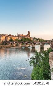 22nd of August 1944 Bridge across the Tarn River in Albi, Tarn region, Midi Pyrenees, France
